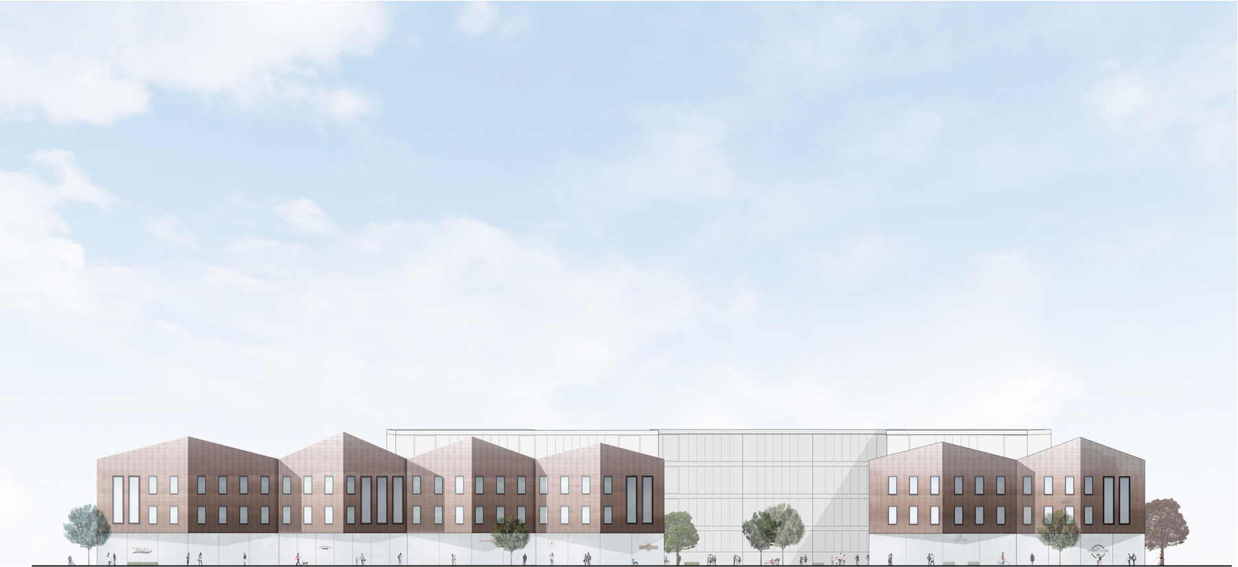 Elevation drawing of a proposed student housing scheme copy